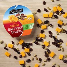 Sweet Balanced Breaks® Colby Natural Cheese with Dark Chocolate Covered Peanuts, Banana Chips and Creamy Peanut Drops Mac And Cheese, Cheddar Cheese, Sargento, Food Inc, Wrap Sandwiches, Breakfast Lasagna, Breakfast Strata, Cooking Recipes, Cheese Recipes