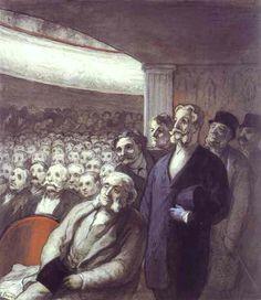 The Spectators - Honoré Daumier