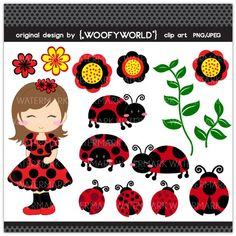 Lady Bug - Personal and Commercial Use digital clip art… Cute Images, Cute Pictures, Pink Ladybug, Ladybug Rocks, Ladybug Party, Ladybug Crafts, Cute Clipart, Elements Of Art, Cute Pink