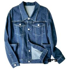 Casual BF Wind Big Pocket Denim Jacket (1.425 UYU) ❤ liked on Polyvore featuring outerwear, jackets, coats & jackets, denim, pocket jacket, denim jacket, blue jackets, jean jackets and blue jean jacket