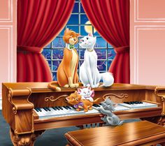 LimsKragma LimsKragma uploaded this image to 'Animation covers/The Aristocats'. See the album on Photobucket. Disney Cats, Disney Cartoons, Disney Pixar, Walt Disney, Disney Characters, Disney Illustration, Disney Posters, Dreamworks Animation, Aesthetic Collage