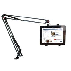 Tablet Swing Arm Clamp: Ideal for people that use either their iPad or tablet for work.    http://www.relaxtheback.com/office/office-workstations/tablet-swing-arm-clamp.html (upcycled / reused / recycled table lamp into a tablet holder)