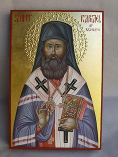 St. Raphael of Brooklyn hand painted orthodox icon by Georgi Chimev, Orthodox Iconsi, Icon Orthodox, Art Icons, Iconography, Icons, Faith Icons