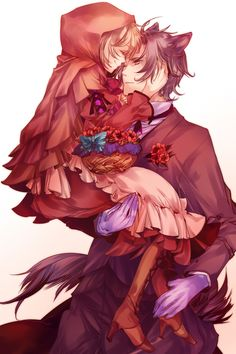 Find images and videos about anime, wolf and lobo on We Heart It - the app to get lost in what you love. Little Red Ridding Hood, Red Riding Hood, Anime Wolf, Manga Anime, Fanarts Anime, Anime Characters, Manga Couples, Lobo Anime, Chibi