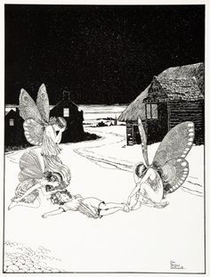 Rare illustration by Ida Rentoul Outhwaite from her first deluxe series, Elves and Fairies, produced in Australia by Thomas Lothian. Her illustrations are her enduring legacy of her love of the Australian b Aya Takano, Witches Dance, Elves And Fairies, Australian Art, Flower Fairies, Fairy Art, Antique Prints, Art Auction, Faeries
