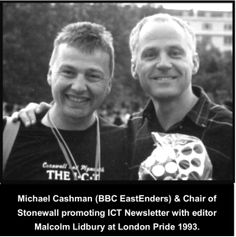 In 1992 Malcolm started the ICT (Independent Cornish Triangle), originally a simple gay information leaflet it became a x20 page monthly newsletter for lesbians & gay men in Cornwall.  By 1995 it reached over 1,000 monthly subscribers.  In 1993 Lidbury was invited to promote the ICT at London PRIDE. #LGBT  http://www.lgbthistorycornwall.blogspot.com