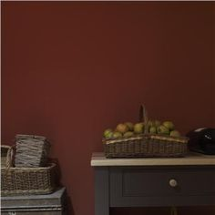 B warm kitchen colors, warm colors, red walls, farrow ball, interior and ex Warm Kitchen Colors, Warm Colors, Colours, Kitchen On A Budget, Diy On A Budget, Kitchen Ideas, Kitchen Design, Farrow Ball, Eco Friendly Paint