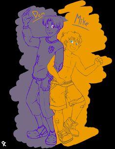 Mikey and Donnie as humans Ninja Turtles 2014, Ninja Turtles Art, Teenage Mutant Ninja Turtles, Tmnt Human, Tmnt 2012, Disney Fan Art, All Art, Little Pony, Pop Culture