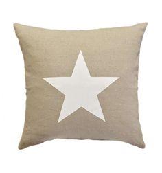 Cojín Estrella blanca cuadrado