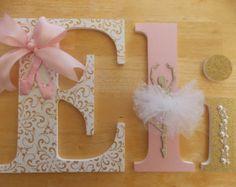 Letras Letras de oro lavanda letras por CountingOurBlessings
