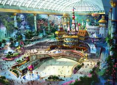 Indoor amusement park in walking distance of our building. fun :-) Lotte World Renovation - Seoul, South Korea