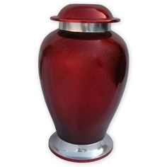 Ruby Metal Urn by Beautiful Life Urns *** Click image to review more details. (This is an affiliate link) #HomeDecorIdeas