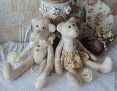 Купить Мишки Тильда. - коричневый, мишки ручной работы, мишка тильда, тильда мишка, винтаж