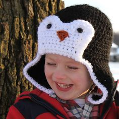 crochet penguin hat idea