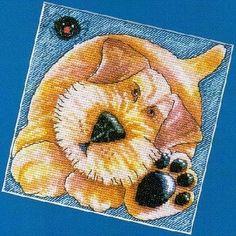 Вышивание крестиком, схемы для подушки с животными