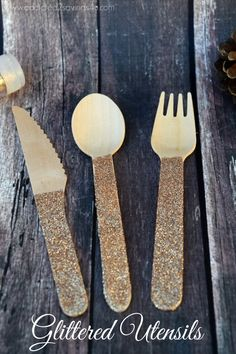 Glittered DIY Utensi