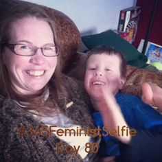 Hanging out with my guy while big brother is at Cubs. He helped pick the filter - looks pretty good, don't ya think? #365FeministSelfie day 80