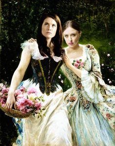 Alana Bloom and Margot Verger Modern Renaissance Portrait (Hannibal AU)