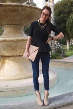 Blue Eyed finch: peplum in the park. Love this look! Passion For Fashion, Love Fashion, Fashion Outfits, Womens Fashion, Fashion Trends, Autumn Winter Fashion, At Least, Cute Outfits, Street Style