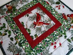 Winter Table Topper Quilted Table Runner by ForgetMeNotQuilteds