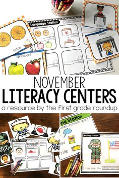 Are you tired of piecing together new stations for your kindergarteners each week so that you can pull small groups? This bundle is a one-stop shop for kindergarten centers themed with Pilgrims, Thanksgiving, bears and Veterans for NOVEMBER. Teacher Lesson Plans, Kindergarten Lesson Plans, Kindergarten Centers, Kindergarten Learning, Literacy Centers, Teacher Resources, Teaching, Pilgrims Thanksgiving, Thanksgiving Classroom Activities
