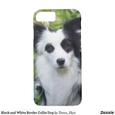 Black and White Border Collie Dog Case-Mate iPhone Case White Border Collie, Collie Dog, Iphone Cases, Black And White, Dogs, Black White, Iphone Case, I Phone Cases, Black N White