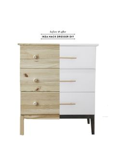 ikea hack tarva dresser diy before and after