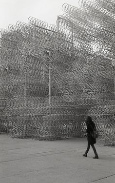 Ai Weiwei's Forever Bicycles Reconfigured Using 3,144 Bikes - location: Nathan Phillips Square, Toronto
