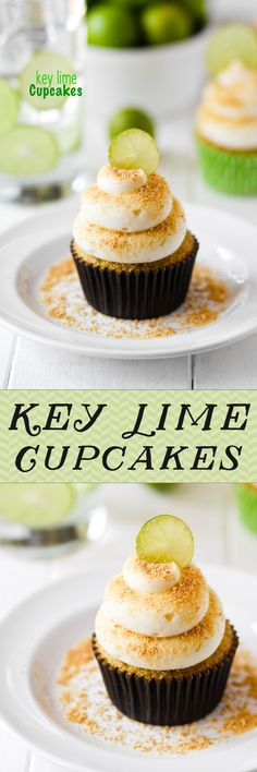 Key Lime Cupcakes -- tart and creamy and SO good!!