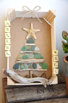 {DiY} Christmas tree deco frame with small pieces of frosted glass … - NOEL Different Christmas Trees, Diy Christmas Tree, Christmas Time, Xmas, Christmas Ornaments, New Years Decorations, Christmas Decorations, Holiday Decor, Paper Tree