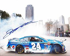 nice AUTOGRAPHED 2014 Jeff Gordon #24 Panasonic Toughbook Racing (Gordon Day Celebration) CITY BURNOUT 8X10 Signed Picture NASCAR Glossy Photo with COA