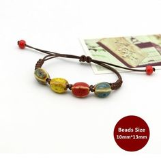 Weaving Bohemia Ceramic Bracelet Charm Jewelry From Touchy Style Outfit Accessories ( candy ) Charm Bracelets For Girls, Bracelets With Meaning, Cheap Bracelets, Cute Bracelets, Fashion Bracelets, Beaded Bracelets, Gypsy Jewelry, Metal Jewelry, Charm Jewelry