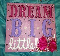 Sorority Canvas Dream Big Little 10x10 by BowtiqueByJacqueline