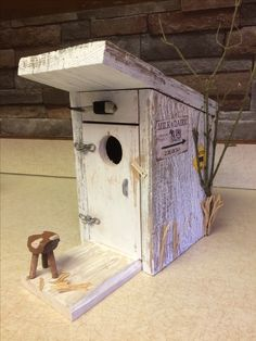 Birdhouses, Wood Crafts, Outdoor Decor, Home Decor, Decoration Home, Nesting Boxes, Room Decor, Wood Turning, Bird Houses