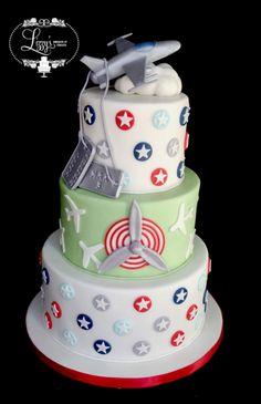 Jet theme Birthday cake. lizzystreats.com