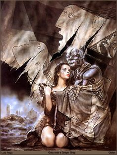 Grey over a Greyer Day - Luis Royo Artwork created from a photo of Liv and Steven Tyler...