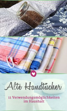 11 ideas on how to reuse old towels- 11 Ideen, wie Sie alte Handtücher weiterverwenden können Because discarded towels can still be very useful, you should not throw them away. Reuse, Upcycle, Parasitic Worms, Recycling, Old Towels, Ideas Hogar, Health Advice, Logo Nasa, Free Sewing
