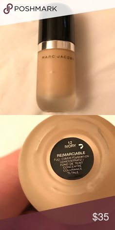 Marc Jacobs Remarcable foundation Lightly used there's still 90% left in both bottles. Shade: 12 Ivory. Price for each. Marc Jacobs Makeup Foundation