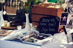 Shabby Chic Guestbook and Picture Table | WM Events