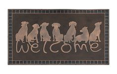 Home Collections Doormat Rubber Pin Mat, Beautifully Copper Finished Dog Tail Welcome Bronze Doormats, Copper, Collections, Bronze, Amazon, Awesome, Link, Dogs, Check
