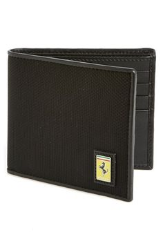 Men's Ferrari 'Utility' Wallet - Black