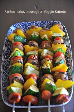Turkey Sausage and Veggie Kabobs, www.mountainmamacooks.com