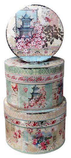 Tamaño muy grande // Box Round Large Haiku Blossom beautiful //  Encontrado en createforless.com