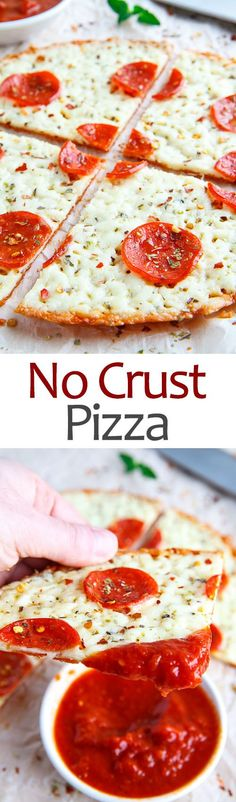 No Crust Pepperoni Pizza ~ Makes this super low carb...no nasty cauliflower crust, egg crust (ack Ö)...just a crunchy cheese bottom in lieu of a carb-filled dough crust!