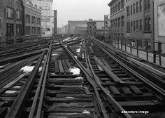 3rd Ave Elevated El Line subway train Bronx NY photo a