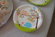 baby owl shower tableware   flutter and sparkle: Owl themed baby shower (for a boy or girl)