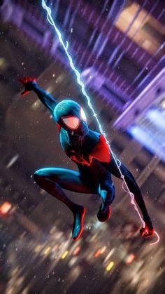 Miles Spiderman, Miles Morales Spiderman, Black Spiderman, Spiderman Art, Amazing Spiderman, Marvel Art, Marvel Heroes, Spiderman Pictures, Ken Kaneki Tokyo Ghoul
