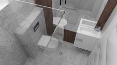 Mała łazienka pod Strzelcami - Malaga, Modern, Toilet, Bathtub, Bathroom, Bath Tub, Bathrooms, Guest Toilet, Tiles