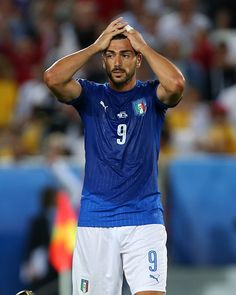 #EURO2016 A dejected Graziano Pelle of Italy during the UEFA Euro 2016 quarter final match between Germany and Italy at Stade Matmut Atlantique on July 2 2016...