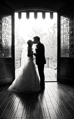 Bride and Groom kissing.  Black and white photography.  The Sterling Castle.  Alabama  Live Free Photography -   www.livefreephoto.com  Birmingham, AL, Seaside, FL. Nashville, TN.   Bohemian  Wedding Photography